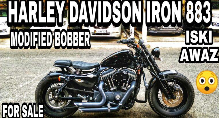 HARLEY DAVIDSON IRON 883 MODIFIED BOBBER FOR SALE | BIKE MARKET DELHI | KAROL BAGH BIKE MARKET