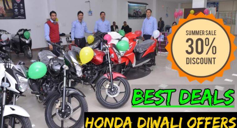 Honda bikes Diwali supply , shine activa hornet CD daybreak X blade all Honda bikes value and downpayment