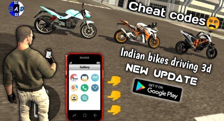 Indian bikes driving 3d Android new replace//Cellphone and bike cheat codes//Rohit gaming studio/BAD