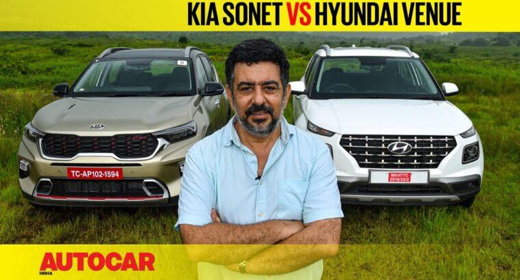 Kia Sonet vs Hyundai Venue – It's all relative   Comparability   Autocar India