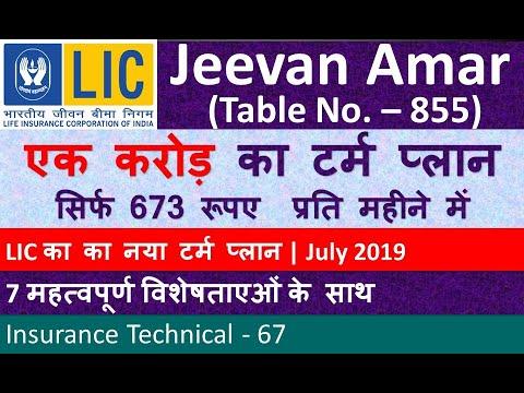 LIC Jeevan Amar Plan No. 855 | LIC's New Time period Plan