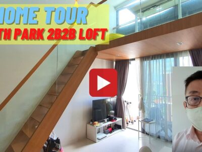 North Park Residences 2 bed room 2 bathtub with loft. +65 81983062