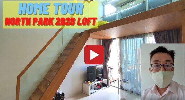 North Park Residences 2 bed room 2 bathtub with loft. +65 81983062