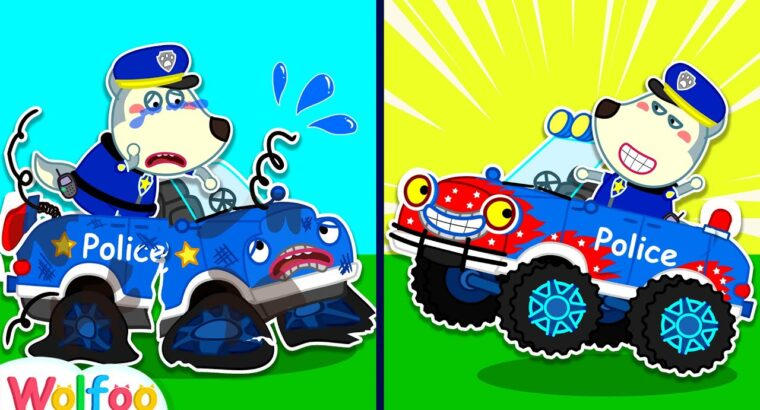 Police Wolfoo Desires a New Police Truck | Police Automotive for Youngsters | Wolfoo Household Youngsters Cartoon