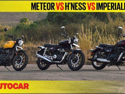 Royal Enfield Meteor 350 vs Honda H'ness CB350 vs Benelli Imperiale 400  Comparability  Autocar India