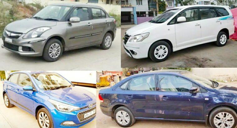 Second hand vehicles sale in Andhra Pradesh – Hyundai i20,Swift Dzire,Innova,Vento