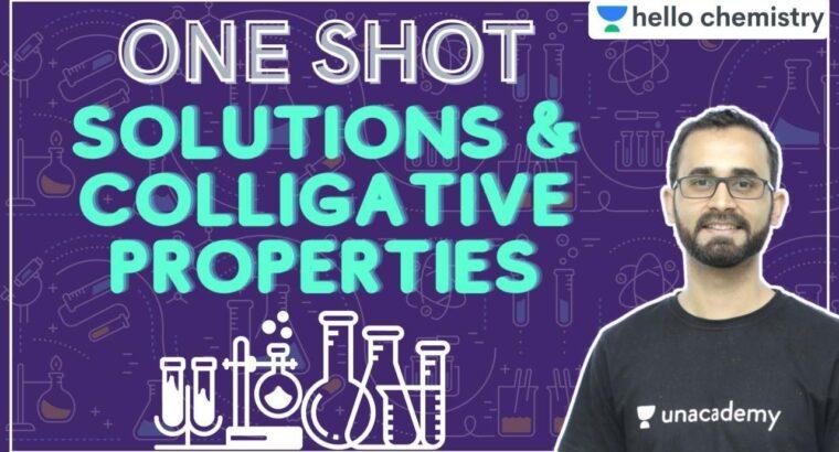 Options & Colligative Properties   One Shot   JEE   NEET   Hey Chemistry   Paaras Thakur