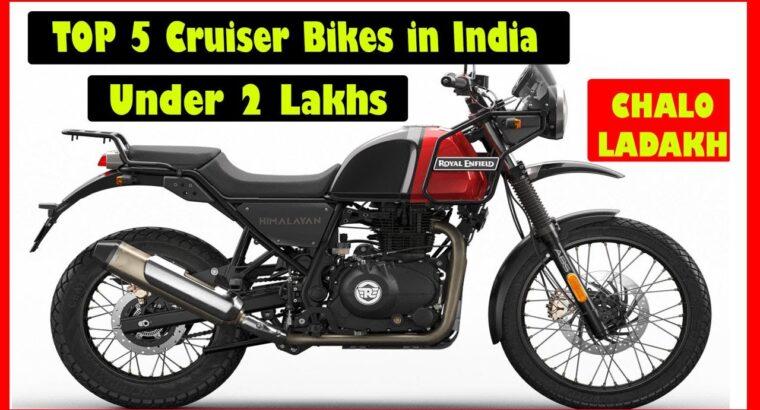 TOP 5 BEST CRUISER BIKES UNDER 2 LAKH in INDIA 2020