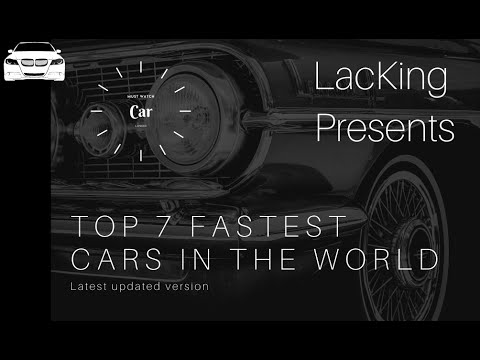 High 7 Quickest Automobiles on the planet    LacKing    Should Watch    Newest Automobiles    2021    Automobile  Lover
