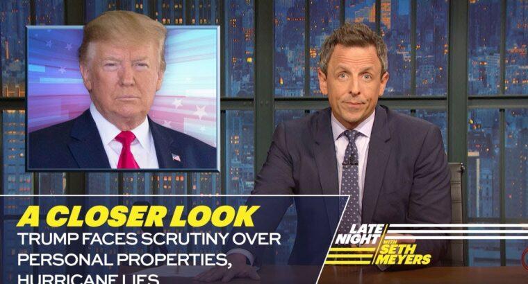 Trump Faces Scrutiny Over Private Properties, Hurricane Lies: A Nearer Look