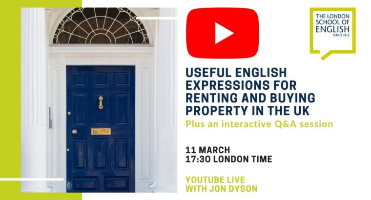 Helpful English expressions for renting and shopping for property within the UK