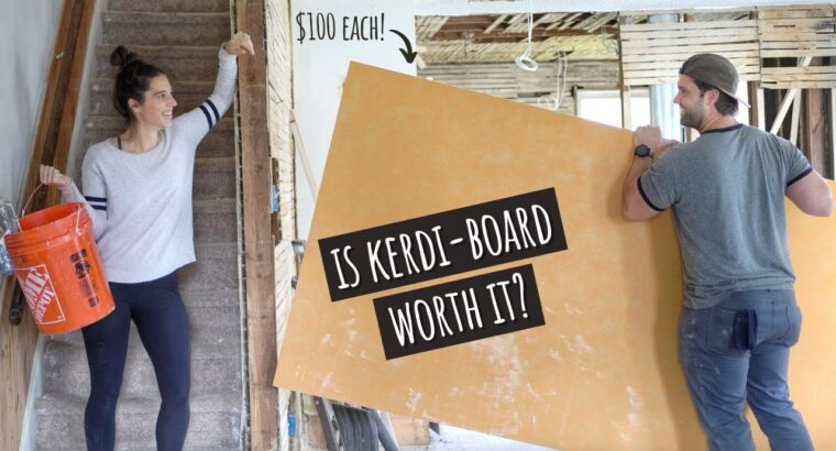 Utilizing Kerdi-Board in a Rental Property for the First Time   EP 11: Street to Our Subsequent Home Hack