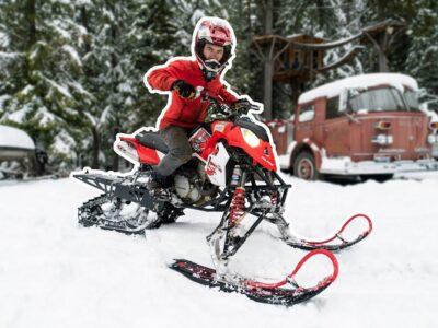 We Put A Snow Bike Equipment on a Sport Quad!