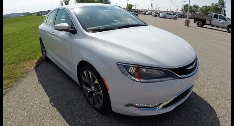 2015 Chrysler 200C White   New Automobiles For Sale   17550