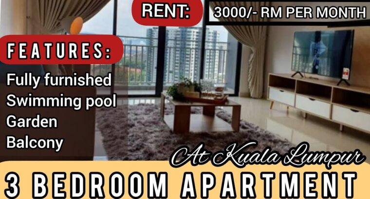 three BEDROOMS APARTMENT FOR RENT IN MALAYSIA I APARTMENT FOR RENT IN MALAYSIA 2021 II MALAYSIA PROPERTY
