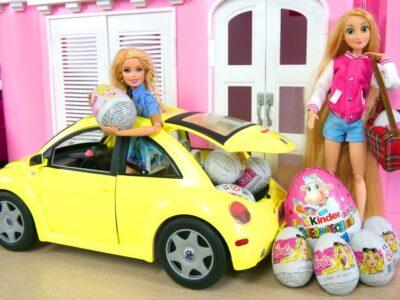 Barbie New Beetle Car Automobile – Princess Shock Eggs Mobil boneka Barbie Auto Überraschungsei