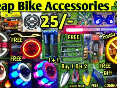 Low-cost Bike Equipment @ 25/- | Free Items & Combo Provides | All India Supply #bikeaccessories
