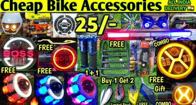 Low-cost Bike Equipment @ 25/-   Free Items & Combo Provides   All India Supply #bikeaccessories