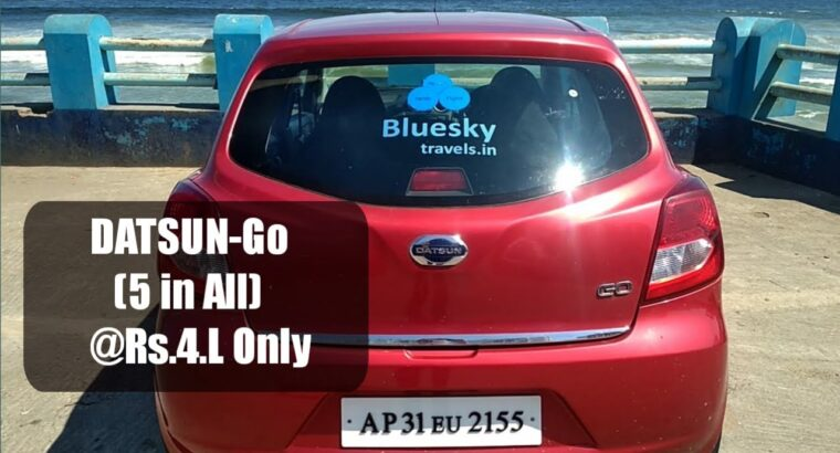 DATSUN-Go 5 in all @ Rs. four Lakhs Solely || Blueskytravels