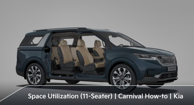 Environment friendly Seating/House Utilization (11-Seater)|Carnival How-to|Kia