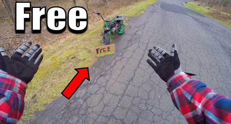 Discovered A Free Pit Bike