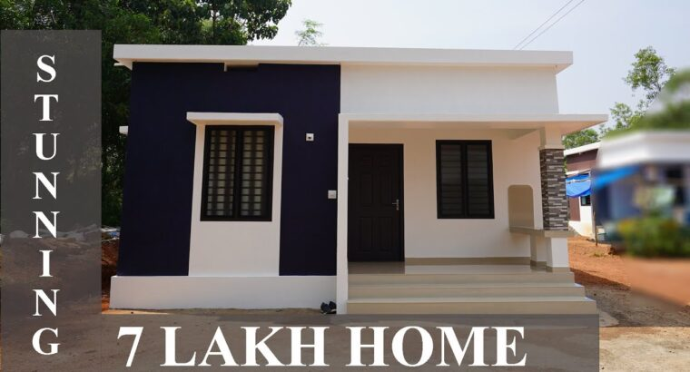 Swish low finances single story house constructed for 7 Lakh