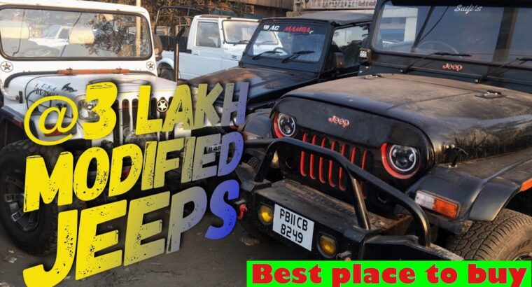 Jeeps Market | customized Modified |Jeeps @ three Lakh | jeeps , Gypsy , Thar , in low cost value