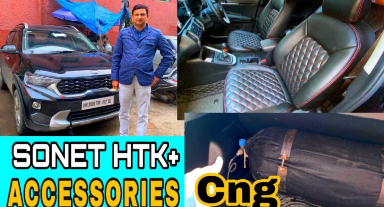 Kia sonet htk+ cng fitted assessment|Bucket seatcovers, 7d mats| ACCESSORIES FOR SONET 2020