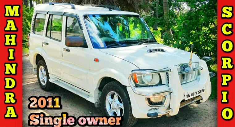 Mahindra Scorpio used automobile on the market in Vellore Secondhand vehicles gross sales Wecares
