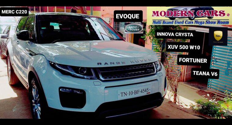 RANGE ROVER EVOQUE | C220 | TEANA | INNOVA CRYSTA | XUV 500 | FORTUNER | MODERN CARS | TAMIL | HD