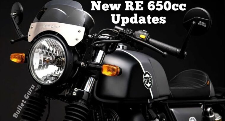 Royal Enfield 650cc New Colours & Function Replace in 2021