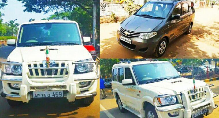 Second hand automobiles sale in Andhra Pradesh – Scorpio,Chevrolet Get pleasure from