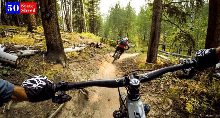 The PERFECT mountain bike path 🇺🇸 50 STATE SHRED: COLORADO