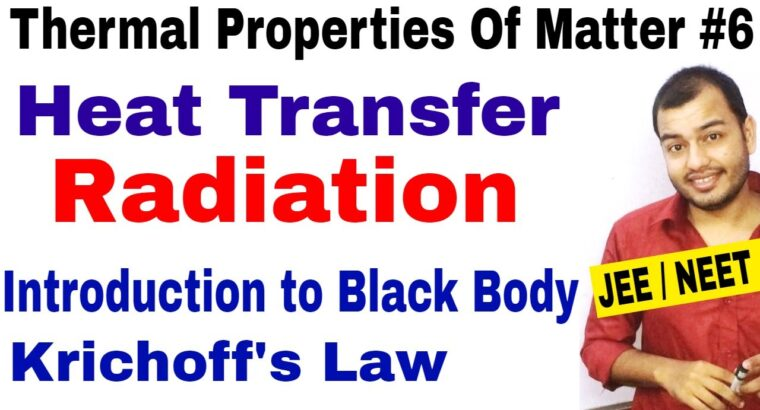 Thermal Properties Of Matter 06   Warmth Switch : RADIATION : Black Physique and Krichoff's Regulation JEE/NEET