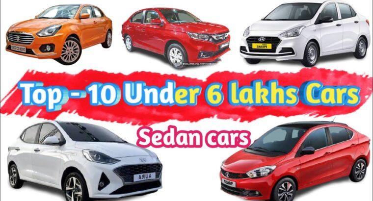 Prime 10 Sedan vehicles underneath 6 lakhs value in India