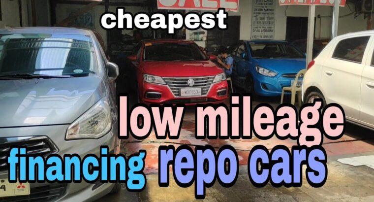 low mileage repo automobiles costs