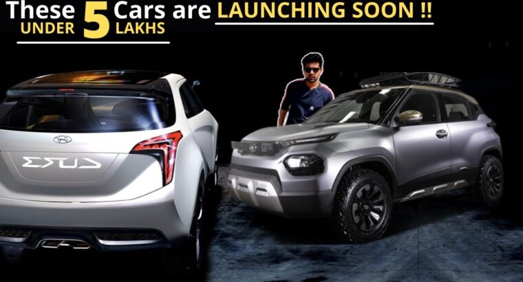 5 Upcoming Automobiles in India 2021 ⚡ Upcoming Automobiles Underneath 5 Lakhs in India ⚡TATA HBX, Hyundai AX(AX1)