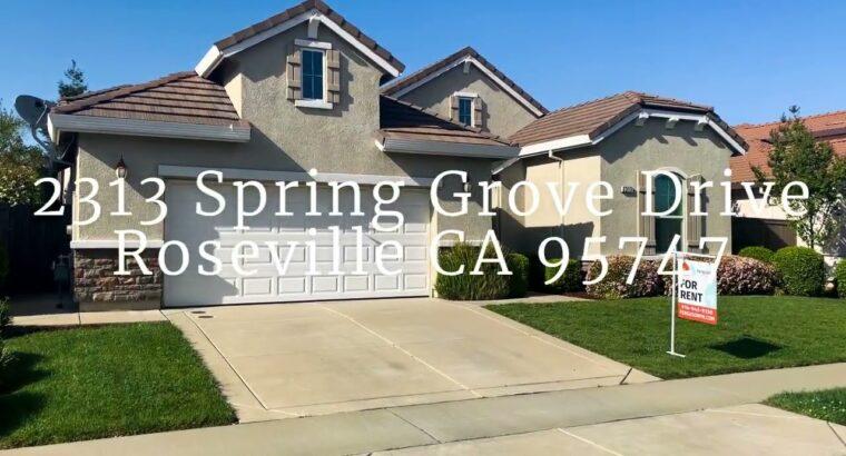 For Hire – 2313 Spring Grove Drive Roseville CA 95747 Ferguson Property Administration DRE #01920160