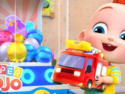 [New Music Version] Hearth Truck in Shock Eggs   Toy Automotive + Nursery Rhymes & Children Songs – Tremendous JoJo