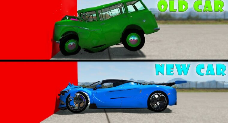 Outdated vs New Vehicles Injury, Experiment –   BeamNG.drive