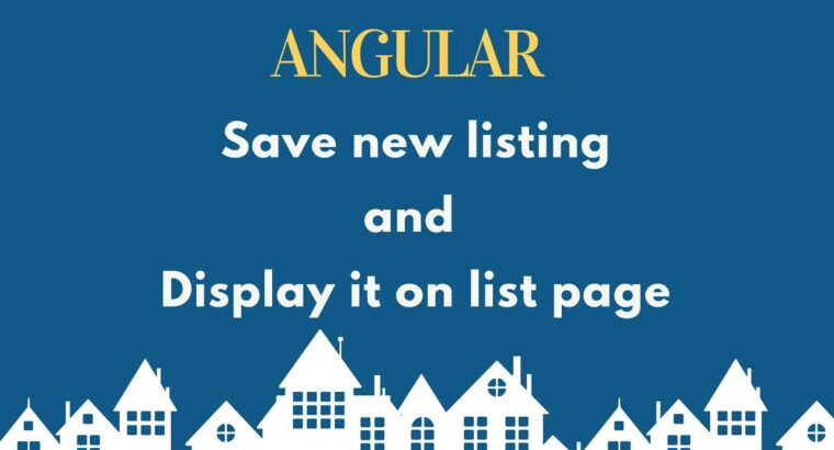 Save new property and show on listing web page