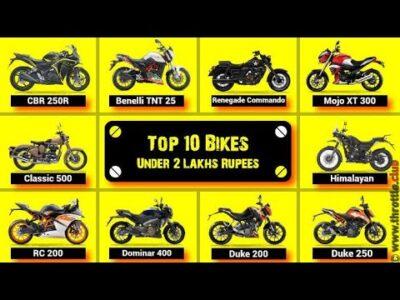 Prime 10 Bikes UNDER 2 Lakh in INDIA
