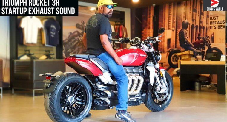 Triumph Rocket 3R Startup Exhaust Sound 4K India #Bikes@Dinos